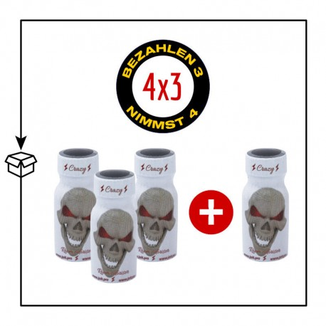 PACK 4 POPPERS CRAZY 10ML