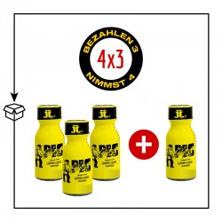 PACK 4 POPPERS PIG SWEAT 15ML