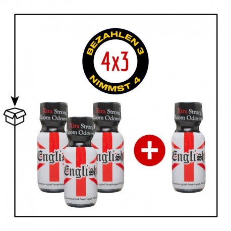 PACK 4 POPPERS ENGLISH POPPERS 25ML