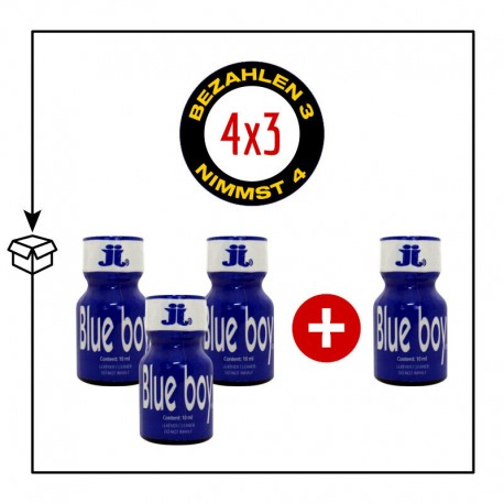 PACK 4 POPPERS BLUE BOY 10ML