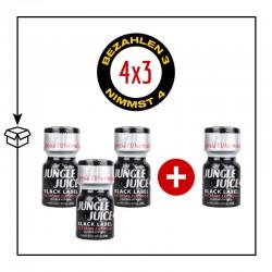 PACK 4 POPPERS JUNGLE JUICE BLACK LABEL 10ML