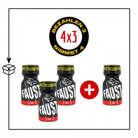 PACK 4 POPPERS FAUST 9ML