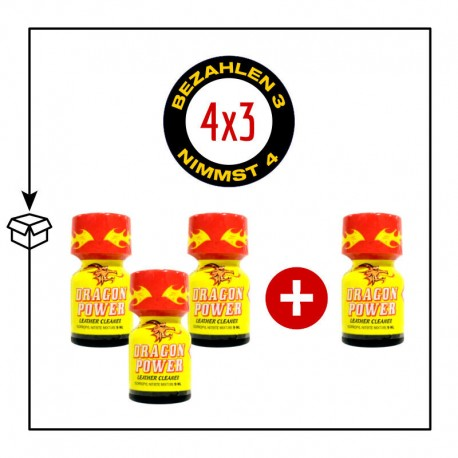 PACK 4 POPPERS DRAGON POWER 9ML