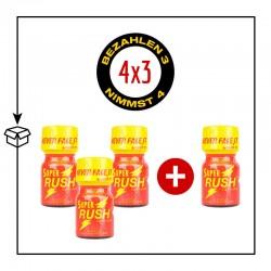 PACK 4 POPPERS SUPER RUSH 10ML