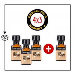 PACK 4 POPPERS GOLD RUSH 24ML