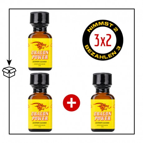PACK 3 POPPERS DRAGON POWER 24ML