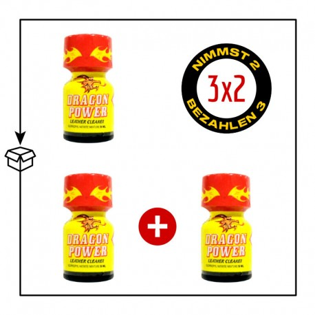 PACK 3 POPPERS DRAGON POWER 9ML